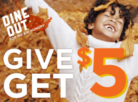 dine out give get $5